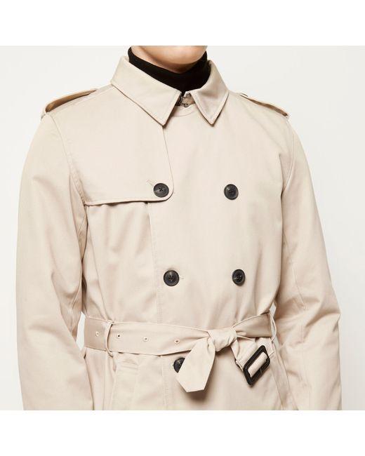 River island Stone Smart Mac Jacket in Beige for Men - Lyst