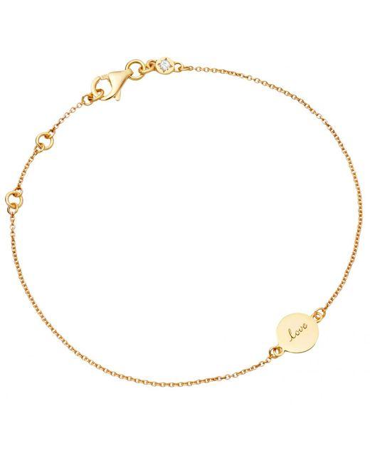 Astley Clarke | Metallic Tiny Love Disc Bracelet | Lyst
