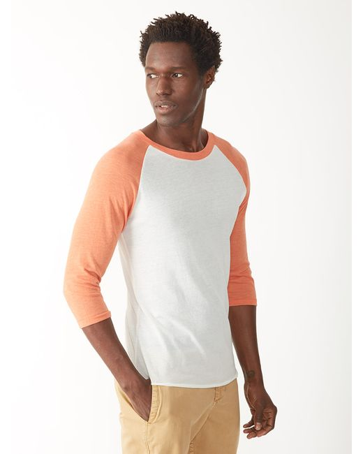 Alternative Apparel | Orange Baseball Eco-jersey T-shirt for Men | Lyst