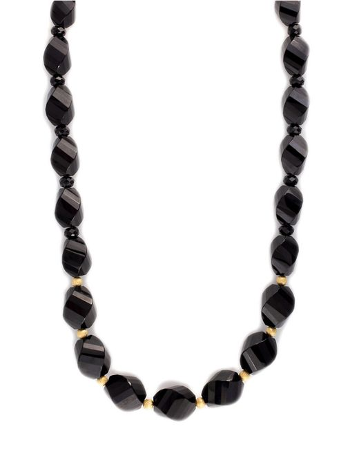 Effy | Black Onyx Necklace In 14k Yellow Gold | Lyst