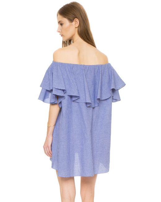 MLM Label | Blue Maison Off Shoulder Gingham Dress | Lyst