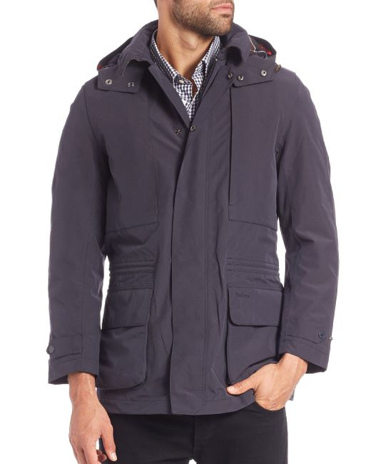 bonham men The stylish barbour bonham jacket for men works well over a sport coat when threatening weather is on the horizon cleanly styled with waterproof zippers, concealed handwarmer pockets, two snap-closed bellows pockets, an interior security pocket, and an internal drawcord.