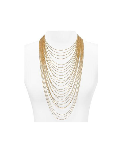 ABS By Allen Schwartz | Metallic Call Of The Wild Multi Chain Necklace, 16-32"