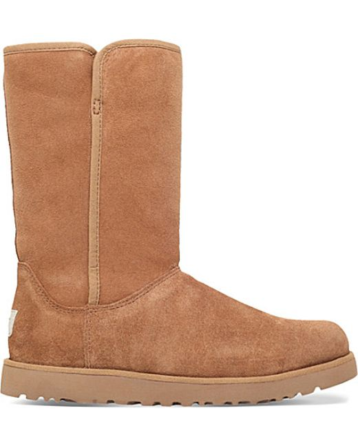 ugg suede ankle boots in brown save 36 lyst
