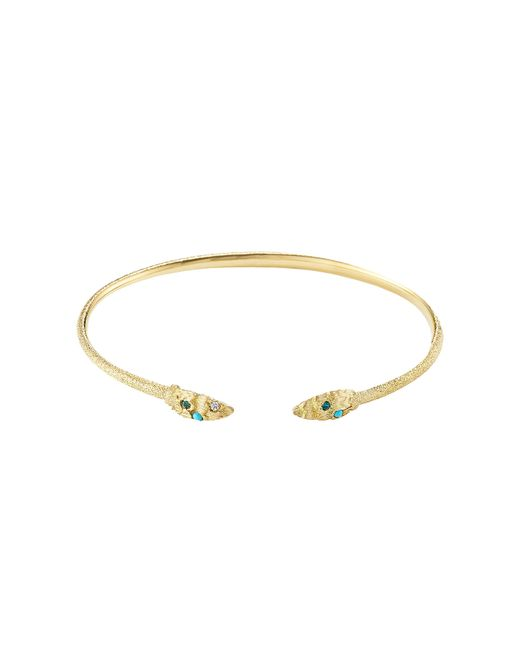 Carolina Bucci | Metallic Owl Wings 18k Gold Bracelet With Turquoise | Lyst