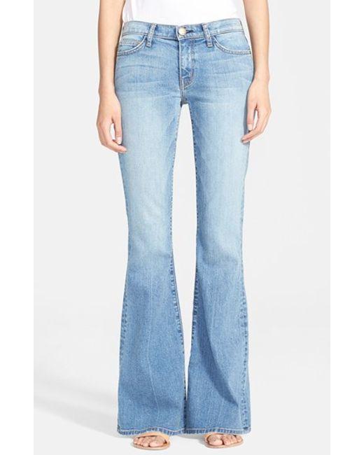 Current elliott bell bottom jeans in blue heirloom lyst
