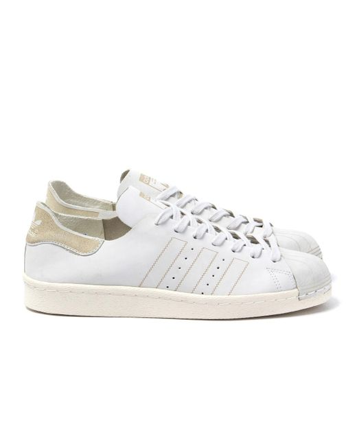 1aed48c6be3 ... Adidas Originals - Superstar 80s Decon White Trainers for Men - Lyst ...