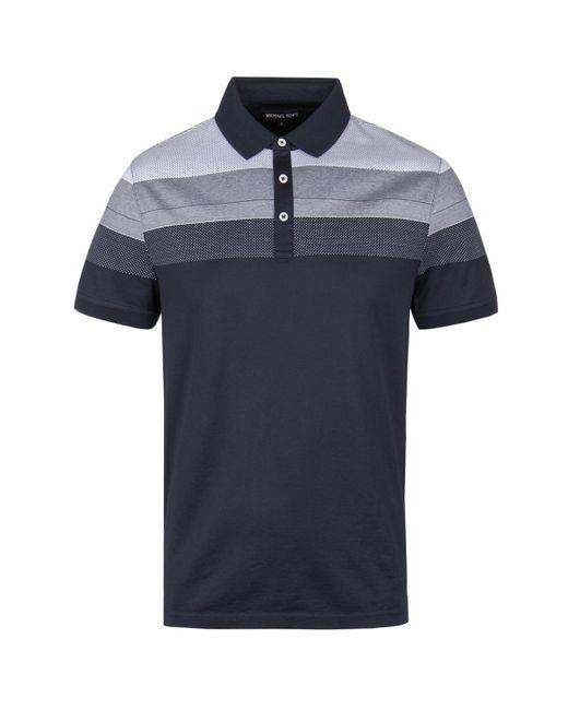 81071898 Michael Kors - Blue Midnight Navy Short Sleeve Polo Shirt for Men - Lyst ...