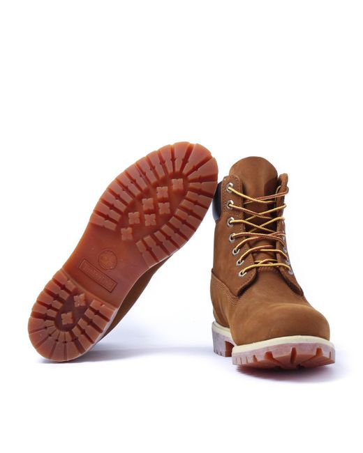 40a1148032a Premium In Timberland Boots Nubuck 6 Rust Inch Waterproof Lyst wXHpSqvT