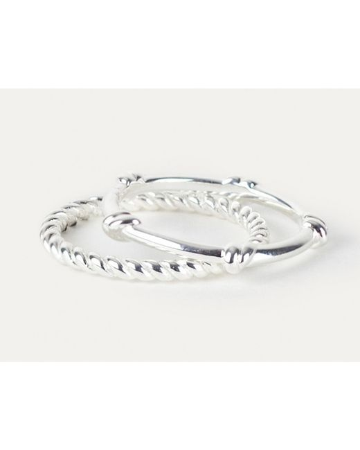 Davina Combe | Metallic Silver Knot Ring | Lyst