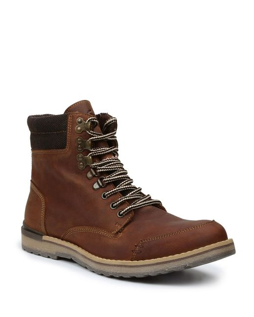 gbx draco leather boots in brown for save 26 lyst