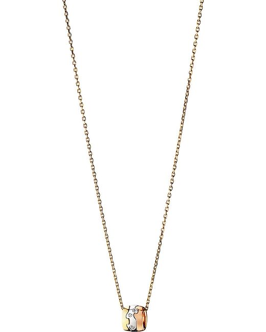 Georg Jensen | Fusion 18ct White, Yellow And Rose Gold Diamond Pendant Necklace | Lyst