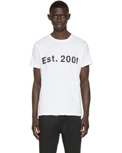Rag Bone White Est 2001 T Shirt In White For Men Save