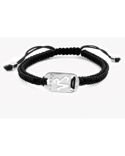 Tateossian   Metallic Zodiac Silver Capricorn Black Macramé Bracelet for Men   Lyst