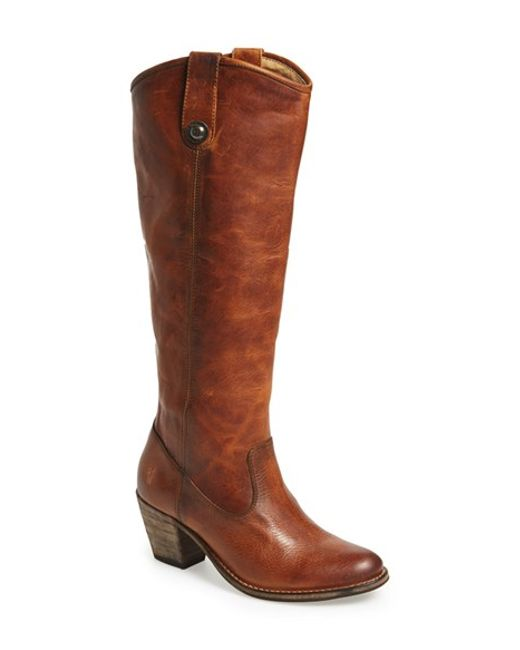Frye | Brown 'jackie Button' Tall Boot | Lyst