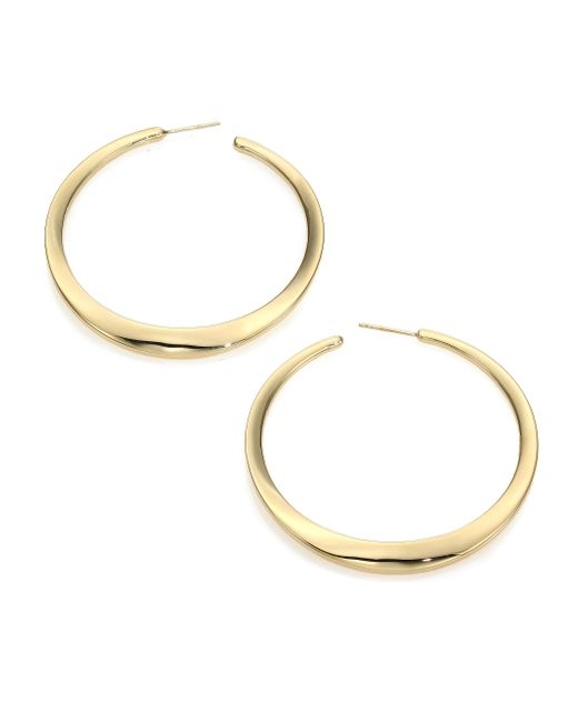Ippolita | Metallic Glamazon 18k Yellow Gold Hoop Earrings/2.35 | Lyst