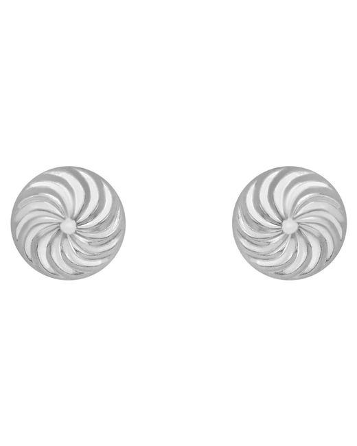 Ib&b   Metallic 9ct Gold Swirl Detail Dome Stud Earrings   Lyst