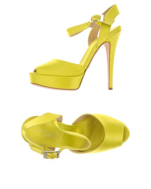 Giambattista Valli | Yellow Sandals | Lyst