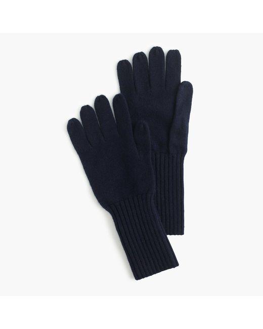 J.Crew | Blue Cashmere Gloves | Lyst