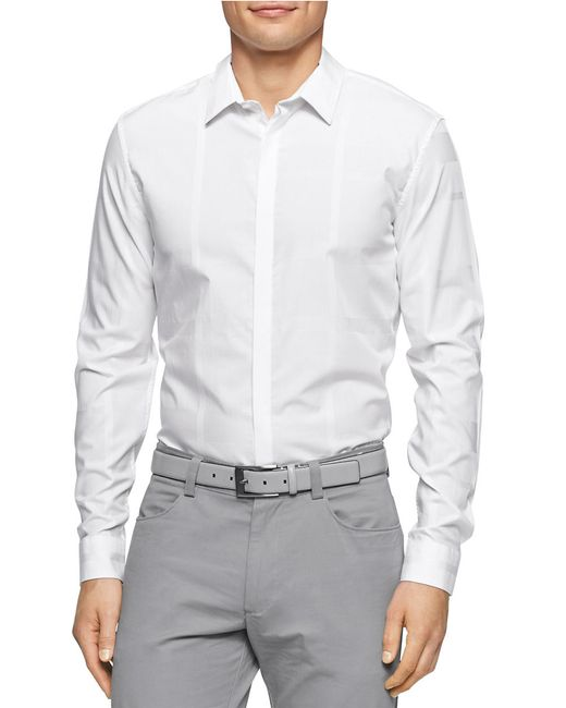 Calvin Klein | White Solid Sportshirt for Men | Lyst
