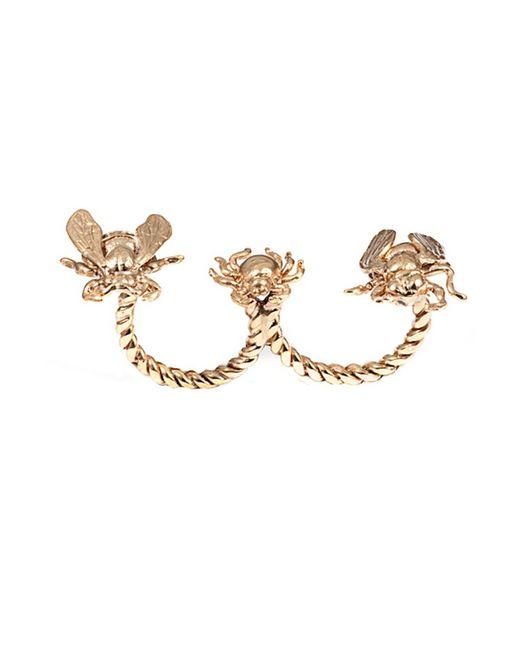 Bernard Delettrez | Metallic Critters Double Finger Bronze Ring | Lyst