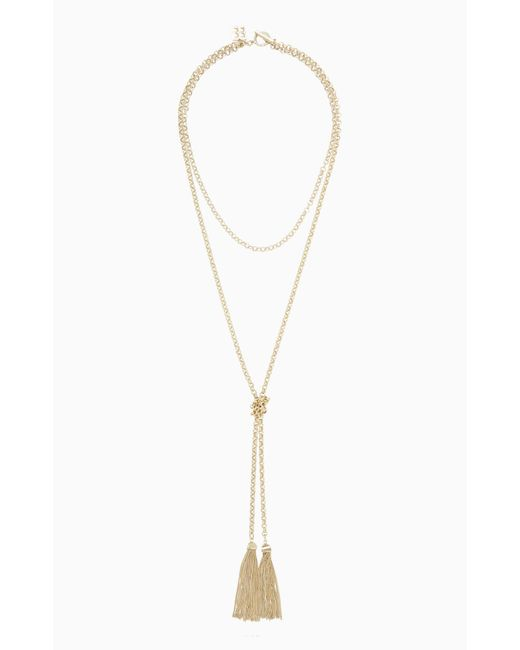 BCBGMAXAZRIA - Metallic Bcbg Toggle Tassel Necklace - Lyst