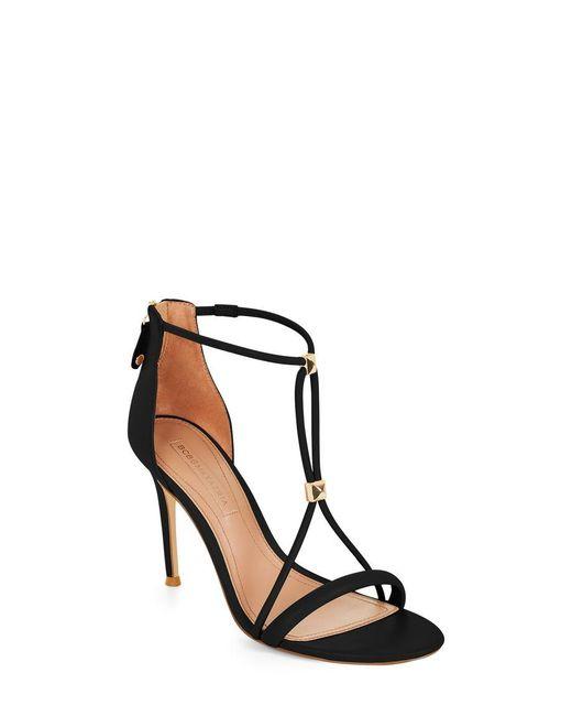BCBGMAXAZRIA - Black Nixie Studded Leather Sandal - Lyst
