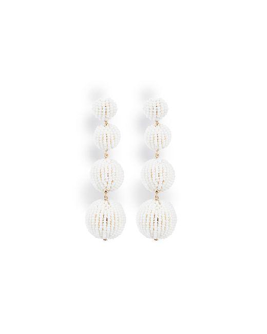 BCBGMAXAZRIA   White Beaded Drop Earrings   Lyst