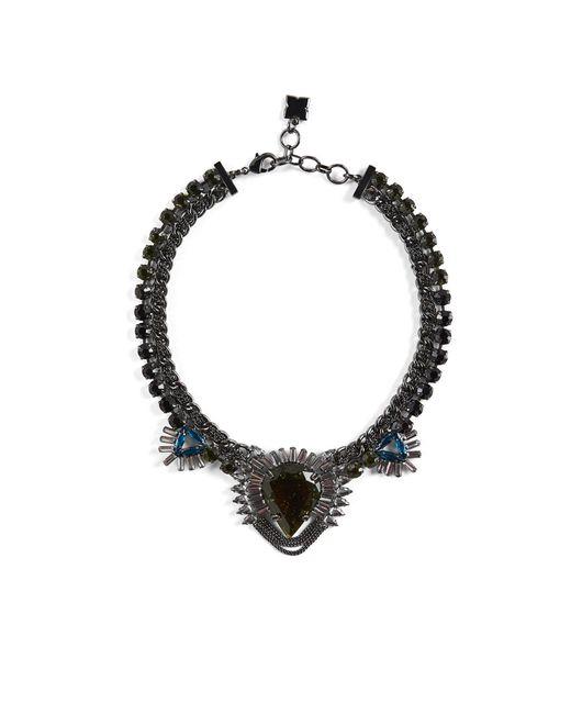 BCBGMAXAZRIA - Multicolor Bcbg Statement Stone Evening Necklace - Lyst