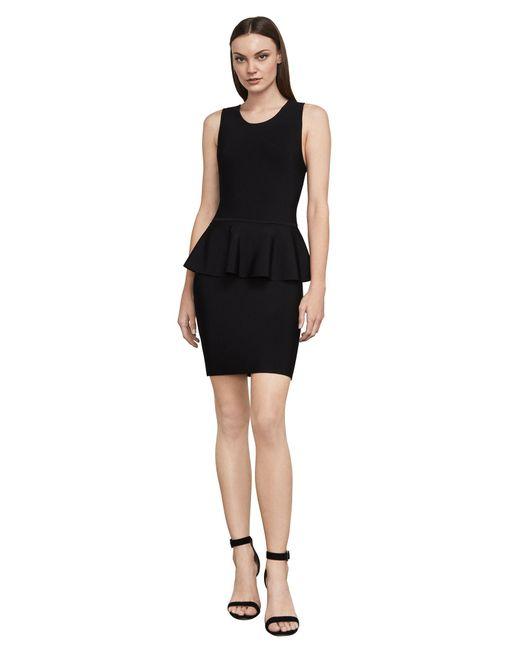 BCBGMAXAZRIA - Black Bcbg Francis Sleeveless Peplum Dress - Lyst