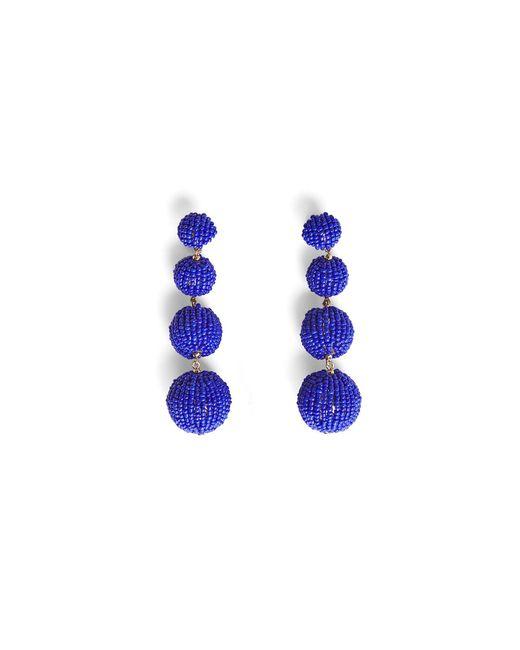 BCBGMAXAZRIA   Blue Beaded Drop Earrings   Lyst
