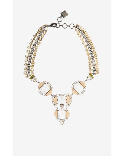 BCBGMAXAZRIA | Metallic Deco Statement Necklace | Lyst