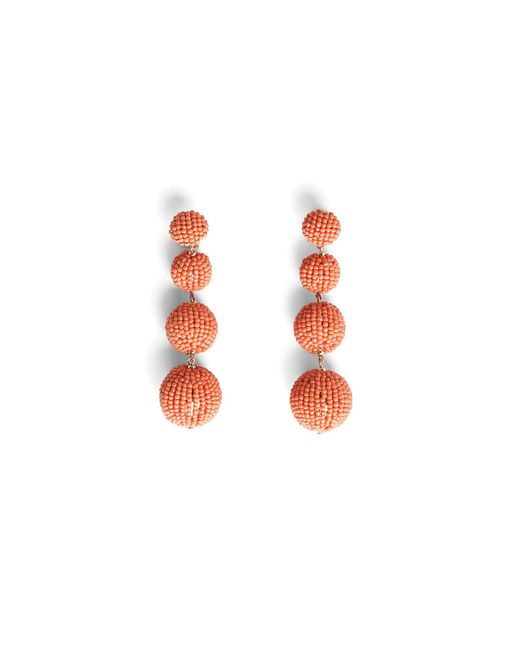 BCBGMAXAZRIA | Multicolor Beaded Drop Earrings | Lyst