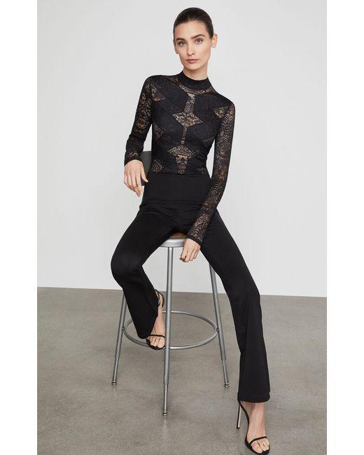 BCBGMAXAZRIA - Black Bcbg Elshane Lace-trimmed Jumpsuit - Lyst