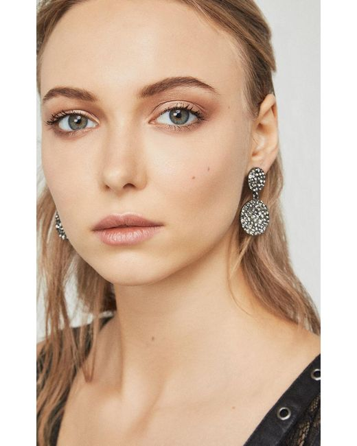 BCBGMAXAZRIA - Natural Circle Stone Earrings - Lyst