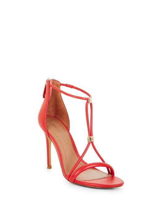 BCBGMAXAZRIA - Red Bcbg Nixie Studded Leather Sandal - Lyst