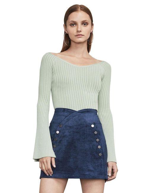 BCBGMAXAZRIA - Green Zoee Off-the-shoulder Sweater - Lyst