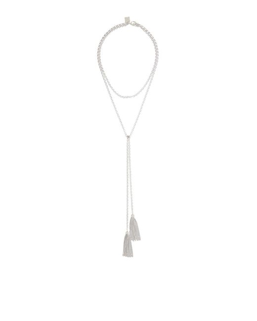 BCBGMAXAZRIA - Metallic Bcbg Toggle Tassel Necklace - Lyst