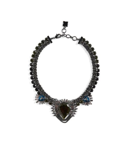 BCBGMAXAZRIA - Multicolor Statement Stone Evening Necklace - Lyst