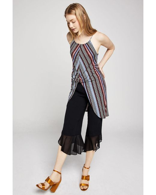 BCBGeneration - Multicolor Striped Knot-front Tunic Top - Lyst