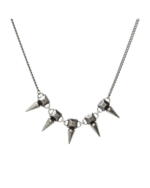 Jill Golden | Metallic Pyramid Spike Necklace | Lyst
