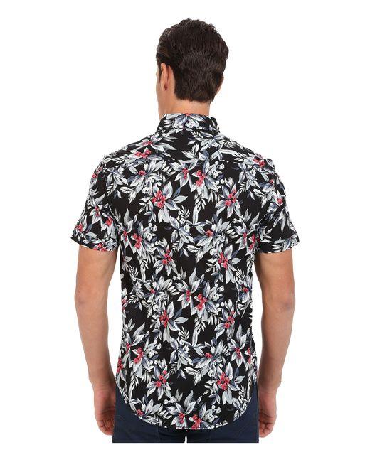 7 Diamonds | Black Ignition Short Sleeve Shirt for Men | Lyst