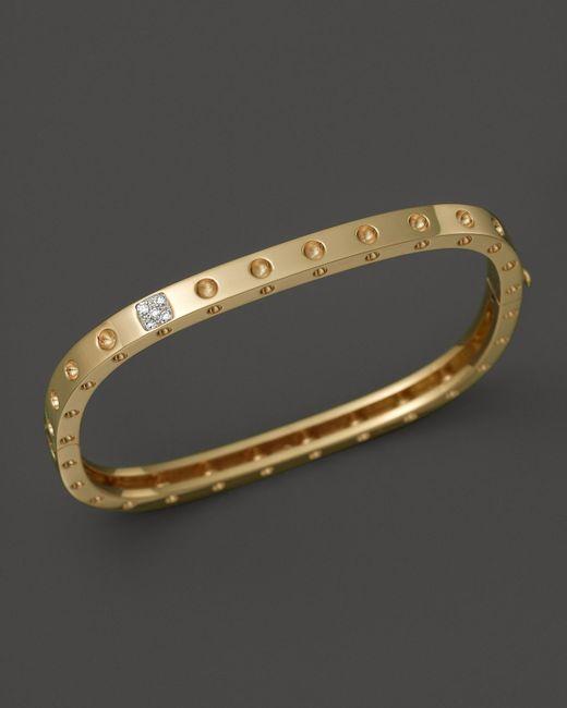 Roberto Coin | Metallic 18k Yellow Gold Pois Moi Single Row Diamond Bracelet | Lyst