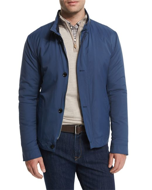 Peter Millar | Blue Mayfair Nylon Bomber Jacket for Men | Lyst