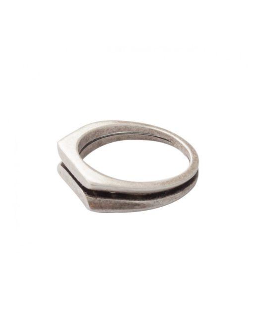 Maison Margiela | Metallic Ottone Brass Splice Ring Silver for Men | Lyst
