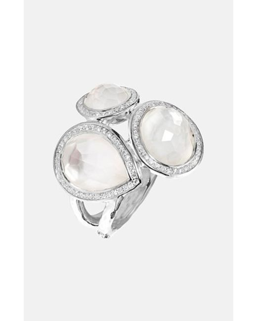 Ippolita | White 'stella' Cluster Ring With Diamonds | Lyst