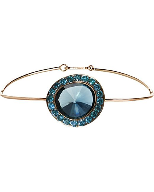 Annoushka | Blue Dusty Diamonds 18ct Rose-gold Topaz And Diamond Bangle | Lyst