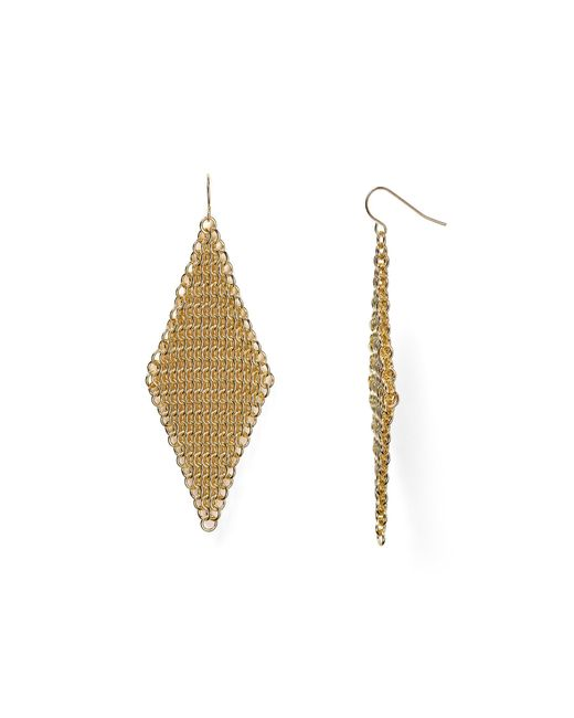 ABS By Allen Schwartz | Metallic Call Of The Wild Mesh Earrings | Lyst