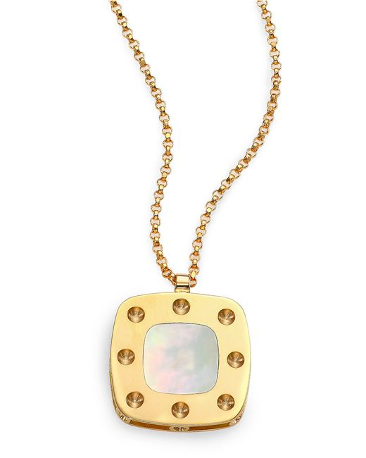 Roberto Coin | Metallic Pois Moi Mother-of-pearl And 18k Yellow Gold Pendant Necklace | Lyst