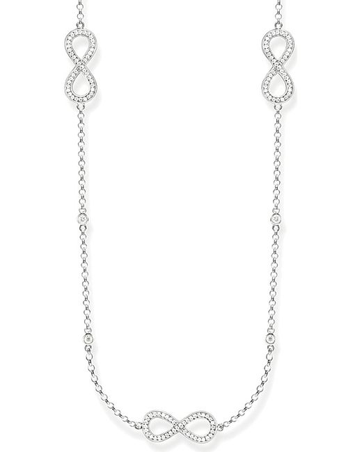 Thomas Sabo | Metallic Sterling Silver Infinity Station Necklace | Lyst